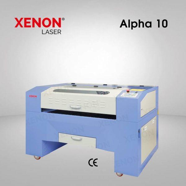 Alpha 10 lazer kesim makinası yandan görünüm