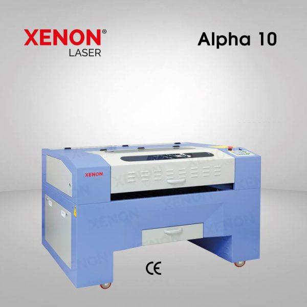 Alpha 10 lazer kesim makinası sol yandan görünüm