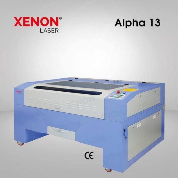 Alpha 13 lazer kesim makinası yandan görünüm