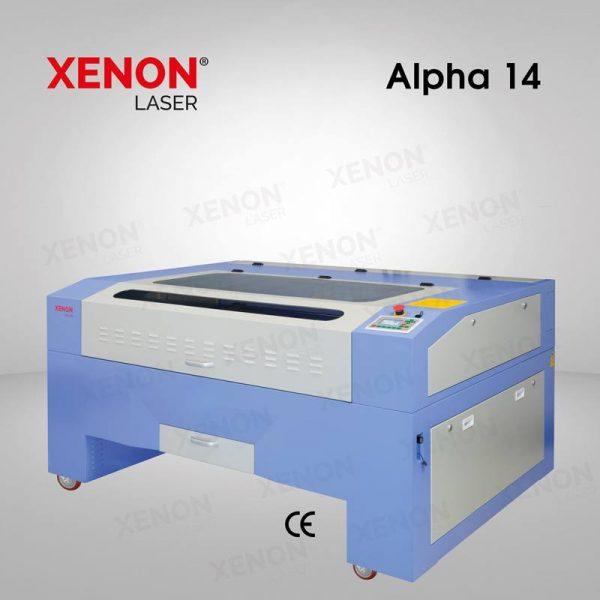 Alpha 14 lazer kesim makinası yandan görünüm