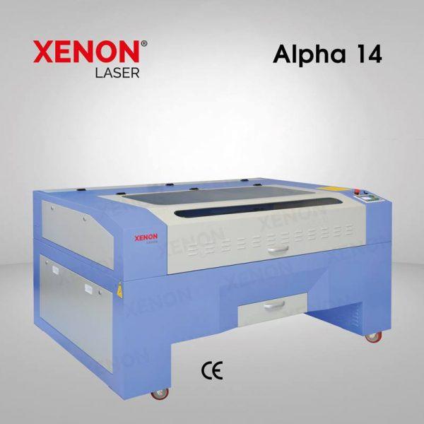 Alpha 14 lazer kesim makinası sol yandan görünüm