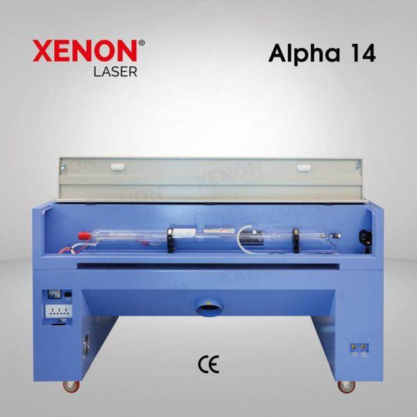 Alpha 14 lazer kesim makinası iç kısım