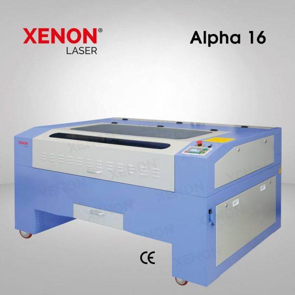 Alpha 16 lazer kesim makinası yandan görünüm