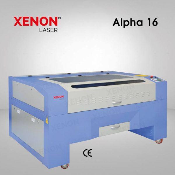 Alpha 16 lazer kesim makinası sol yandan görünüm