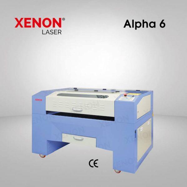 Alpha 6 lazer kesim makinası yandan görünüm