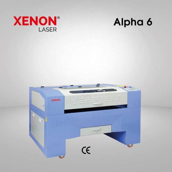 Alpha 6 lazer kesim makinası sol yandan görünüm