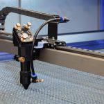 Lazer kesim makinası çalışma görüntüsü